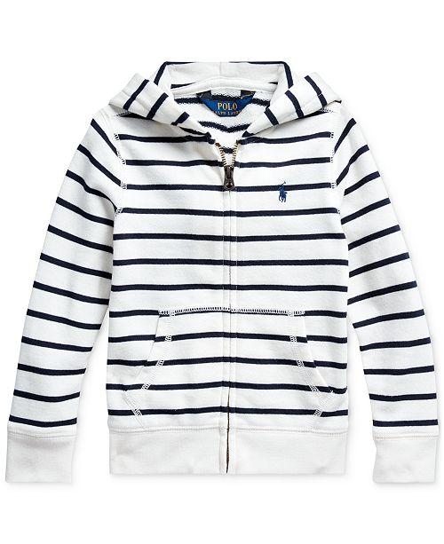 Polo Ralph Lauren Toddler Girls Striped Cotton-Blend-Terry Hoodie