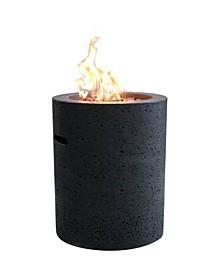 """18"""" Lava Tube Outdoor Fire Pit Liquid Propane"""