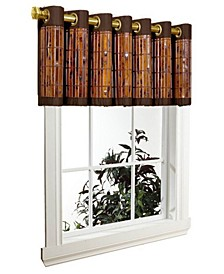 Home Fashions Tortoise Shell Bamboo Grommet Top Valance