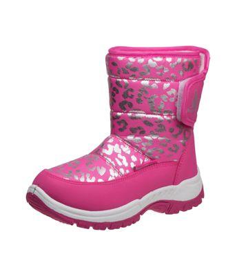 Rugged Bear Girls Heart Print Snow Boots Kids