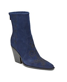 Rebel Wilson Western Chunky Heel Boots
