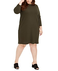 Plus Size Boat-Neck Dress