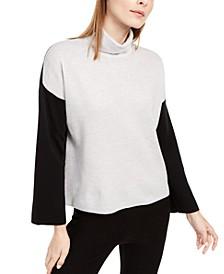 Wool Colorblocked Turtleneck Sweater, Regular & Petite Sizes