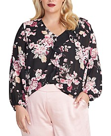 Trendy Plus Size Layla Floral-Print Top