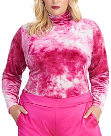 Trendy Plus Size Val Velvet Tie-Dyed Top