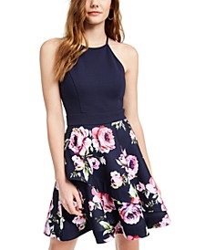 Juniors' Halter Fit & Flare Dress, Created for Macy's