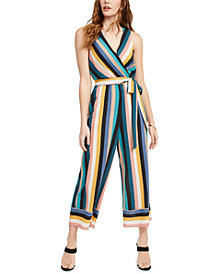 Speechless Juniors' Striped Jumpsuit