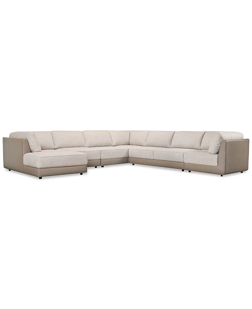 Furniture Mattley 6-Pc. Fabric Modular Sectional Sofa with Chaise, Created For Macy's