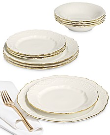 Classic Foulard 12-Pc. Dinnerware Set, Service for 4, Created for Macy's