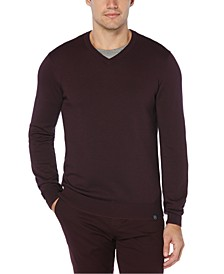 Men's End-On-End V-Neck Sweater