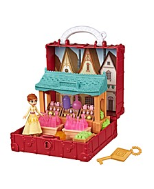 Disney Pop Adventures Village Set Pop-Up Playset With Handle, Including Anna Small Doll Inspired by Disney Frozen 2 Movie