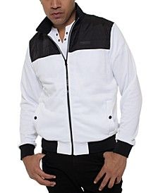 Kenneth Cole Men's Colorblocked Mock-Neck Track Jacket