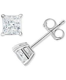 Diamond Princess Stud Earrings (3/4 ct. t.w.) in 14k White Gold