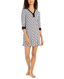 Women's Printed Tunic Sleepshirt Nightgown