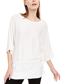 3/4-Sleeve Tie-Hem Sweater, Created For Macy's