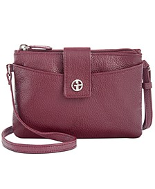Leather Softy Mini Accordion Crossbody, Created for Macy's