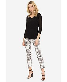 Pull-On Printed Jegging