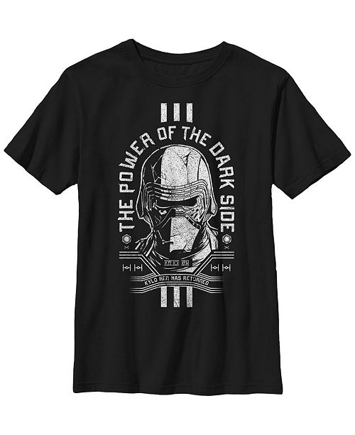 Star Wars Big Boys Kylo Ren The Power of The Darkside Short Sleeve T-Shirt