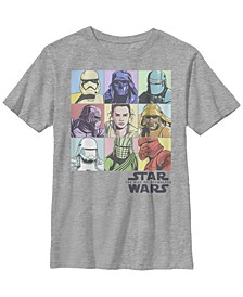 Big Boys Rainbow Pastel Rey Vs Evil Box Up Short Sleeve T-Shirt