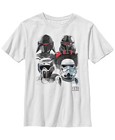 Big Boys Jedi Fallen Order Trooper Helmets Short Sleeve T-Shirt