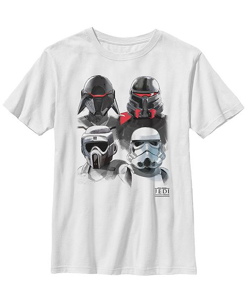 Star Wars Big Boys Jedi Fallen Order Trooper Helmets Short Sleeve T-Shirt
