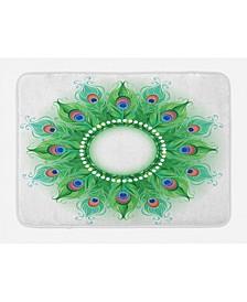 Peacock Mandala Bath Mat
