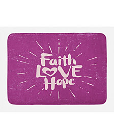 Ambesonne Hope Bath Mat