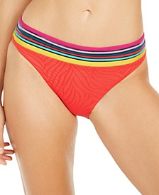 Zebra Textured Hipster Bikini Bottoms