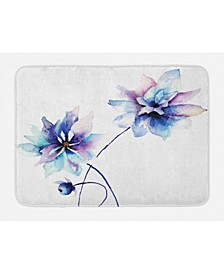Watercolor Flower Bath Mat
