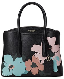 Margaux Brush Bloom Leather Small Satchel