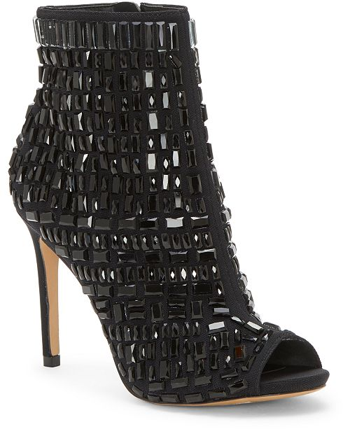 Jessica Simpson Wydlee Peep-Toe Embellished Booties