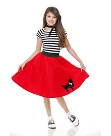 Big Girls Poodle Skirt