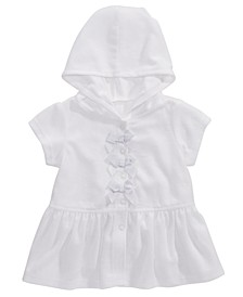 Baby Girls Hooded Bow-Front Swim Coverup, Created For Macy's