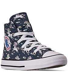 Little Girls Chuck Taylor Unicorns High Top Casual Sneakers from Finish Line