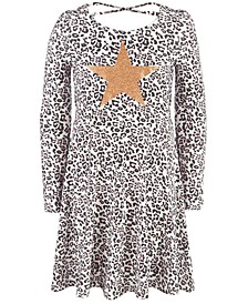 Little Girls Snow Leopard Heart Dress, Created For Macy's