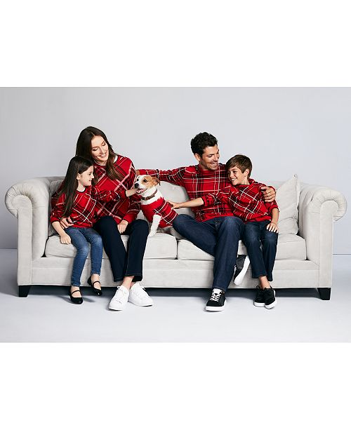 Charter Club Plaid Family Sweaters, Created For Macy's