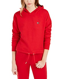 Drop-Shoulder Fleece Hoodie