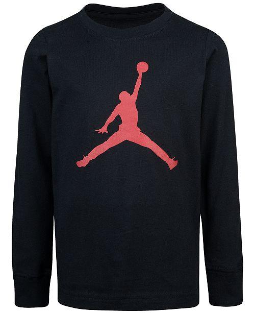 Jordan Big Boys Cotton Jumpman Logo T-Shirt