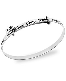 Children's Train Bangle in Sterling Silver 3-5 Years
