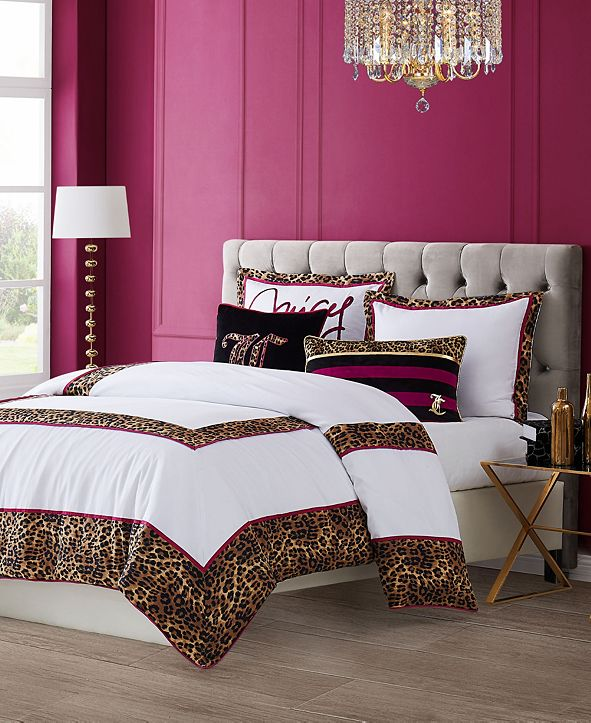 Juicy Couture Regent Leopard 3-Piece Queen Comforter Set