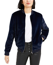 Faux-Fur Bomber Jacket, Created For Macy's