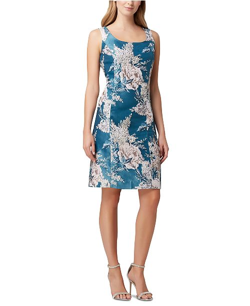 Tahari ASL Floral-Print Sheath Dress