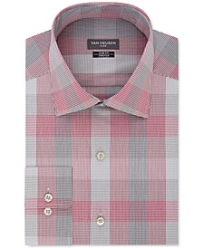Men's Slim-Fit Plaid Dress Shirt