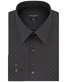 Men's Slim-Fit Dot-Print Dress Shirt