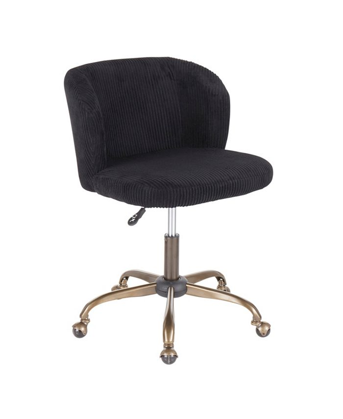 Lumisource - Fran Ribbed Office Chair, Quick Ship