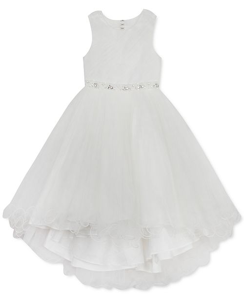 Rare Editions Big Girls Beaded Mesh Dress, Created For Macy's
