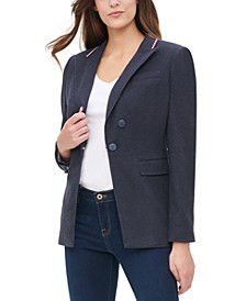 Ribbon-Trim Blazer