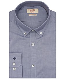 Men's Heritage Slim-Fit Performance Stretch Blue Solid Dress Shirt