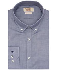 Men's Heritage Slim-Fit Performance Stretch Blue Solid Dress Shirt