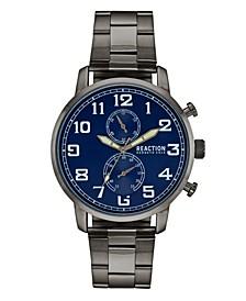 Men's Gunmetal Metal Bracelet Watch, 46mm